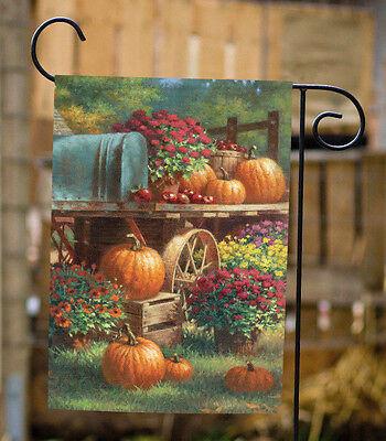 Toland Farm Pumpkin 12.5 x 18 Colorful Fall Autumn Harvest Garden Flag