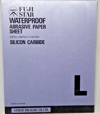Fuji Star Waterproof Abrasive Paper Sheet Silicon Carbide 50 Sheets Nip