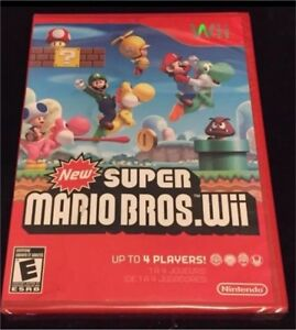 New Super Mario Bros. Nintendo Wii/Wii U Video Game New Sealed