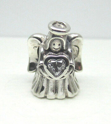 Authentic Pandora #792010CZ Angel of Love Charm with Clear CZ
