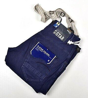 NWT Men's G-Star Raw Arc 3D Loose Tapered Braces Pant Suspenders Blue COJ 32x32