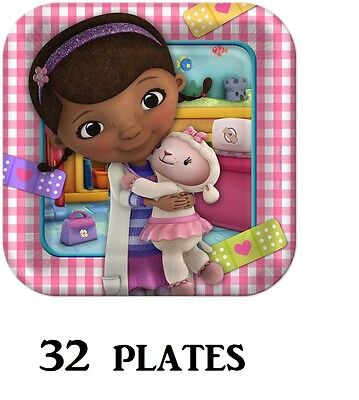 Hallmark Disney Doc McStuffins Party Dinner Plates - 32 Pieces