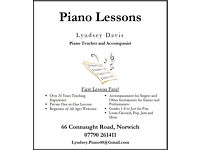 Piano Lessons/Accompaniment - 20+ Years Teaching Experience - £10 per 30 minutes - First Lesson Free