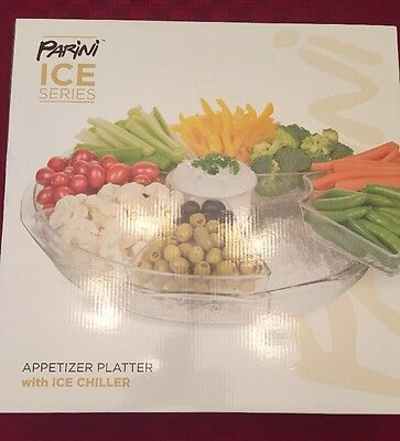 Parini Ice Series Dip And Chips Cooler Serving Platter Tray