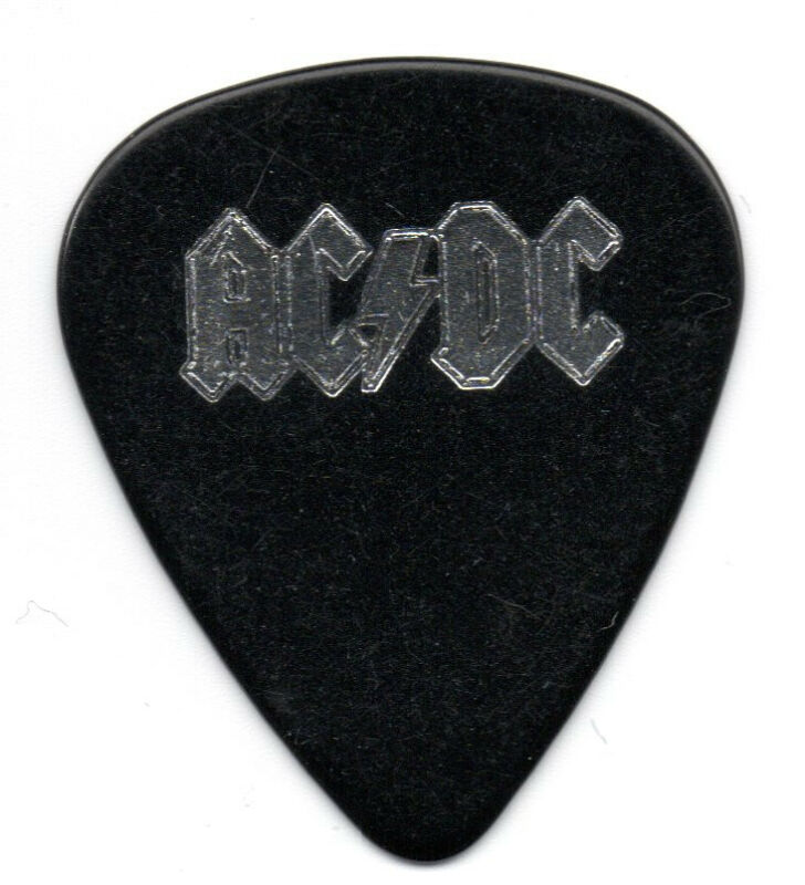 AC/DC Malcolm Young Black Ice Tour Guitar Pick