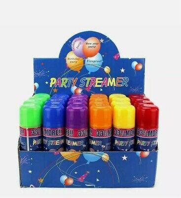 24 Party String Cans - Silly Fun Goofy Crazy Streamer Prank Wedding Spray Supply