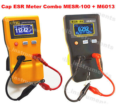 In Circuit Capacitor Capacitance Cap Esr Meter Tester Combo Dmm Mesr-100 M6013