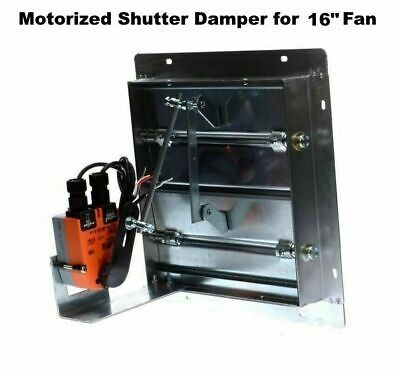 Motorized Shutter Damper For 16 Fan Flanged Frame Powered Louver Exhaust Intake