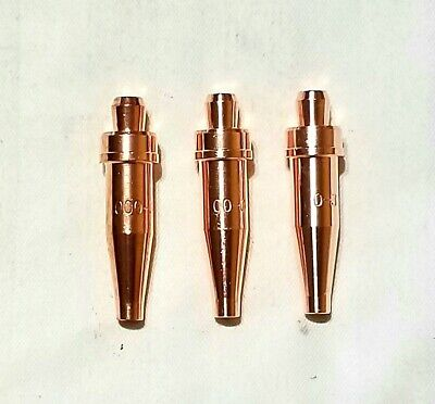 Lot of 3 Smith Style Acetylene Torch Cutting Tips MC12-0 MC12-1 MC12-2
