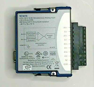 National Instruments Ni-9215 Cdaq Simultaneous Analog Input Module