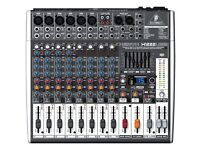 Mixer with case + Speakers (x2) with dust covers + Stands (x2)