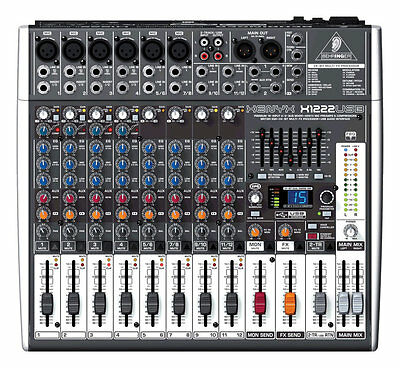 Behringer XENYX X1222USB mint 16-Input Live Sound Mixer Board w/ USB & FX EQ
