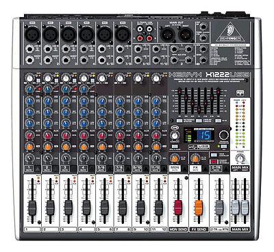 NEW Behringer XENYX X1222USB 16-Input Live Sound Mixer Board
