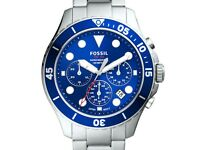 Fossil Mens FB-03 Watch FS5724. Blue Face. New with tags. RRP £160