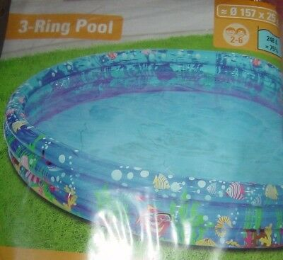 "Pool Kinderpool Planschbecken ""3-Ring-Pool"",157 cm,NEU!"