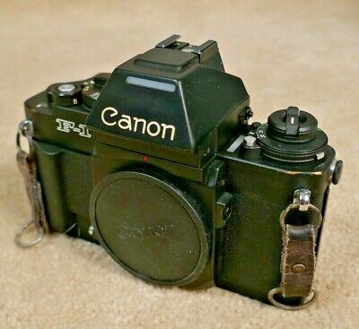 Canon New F-1 AE Finder 35mm SLR Film Camera Body - Reconditioned by Canon!