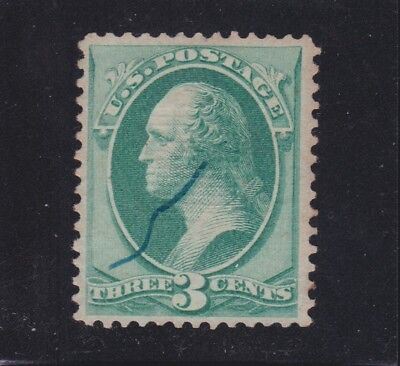 US 136 3c Washington Used VF SCV $32.50