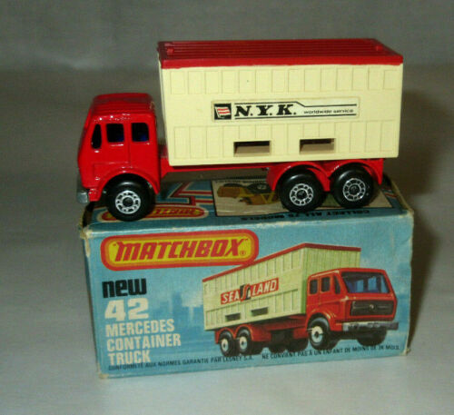 Matchbox No 42 Mercedes Container Truck N.Y.K. with Box