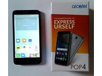 Alcatec POP 4 Smart Phone Android 6 Mobile 8 GB Tesco Network Only Used With Box & Cover