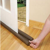 2Pcs Twin Door Draft Dodger Guard Stopper Protector Under Door Draft Excluder US