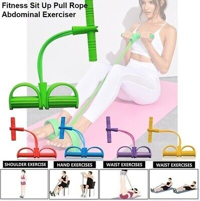 Multi-Function Tension Rope Fitness Pedal Exerciser Rope Pull Bands