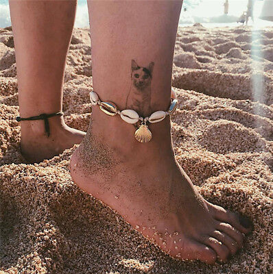 Boho Natural Sea Shell Beach Foot Chain Sandal Anklets Rope Bracelet Jewelry New