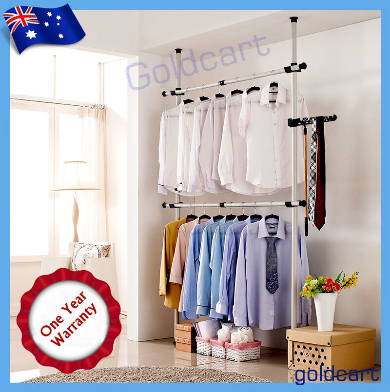 Heavy Duty Movable Garment Rack Diy Coat Hanger Clothes
