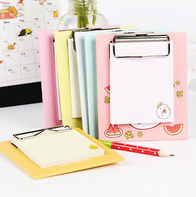 Cute Mini Clipboard Sticky Notes Daily Notepads Memo Pad School Office Supplies