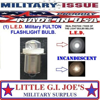 Fulton Military Issue Angle Head Flashlight MX-991/USA L.E.D Light Bulbs (1) Ea. Angle Head Led Flashlight