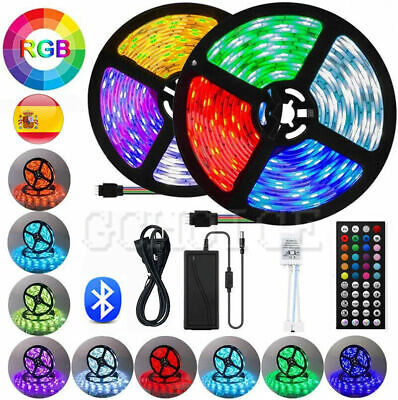 Tira Luces LED RGB 5050 15M 12V Decoración Con Control Remoto 44...