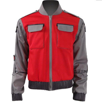 Movie Back To Future Marty Mcfly Jacket Coat Cosplay Costumes Halloween - Marty Mcfly Cosplay