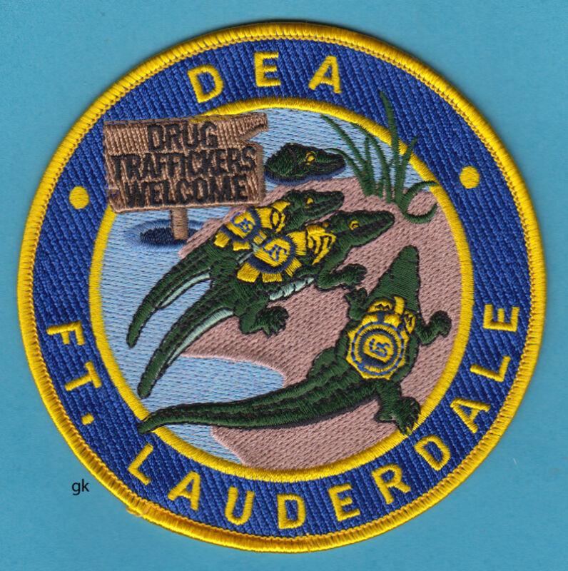 DEA  DRUG ENFORCEMENT ADMIN.  FORT LAUDERDALE FLORIDA POLICE SHOULDER PATCH