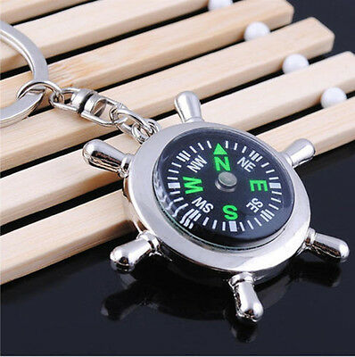 abbcaf61e Portable Camping Sport Hike Mini Metal Rudder Keychain Compass Ring Outdoor