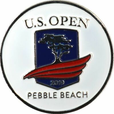 2019 US Open (Pebble Beach) -Flat- (White) Logo Golf BALL MARKER