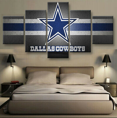 Dallas Cowboys Nation 5 pcs Painting Printed Canvas Wall Art Home Decorative - Dallas Cowboys Home Decor