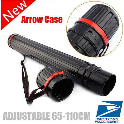 US SHIP Adjustable Arrow Quiver Shoulder Tube Archery Case Back Quiver 12-20PCS