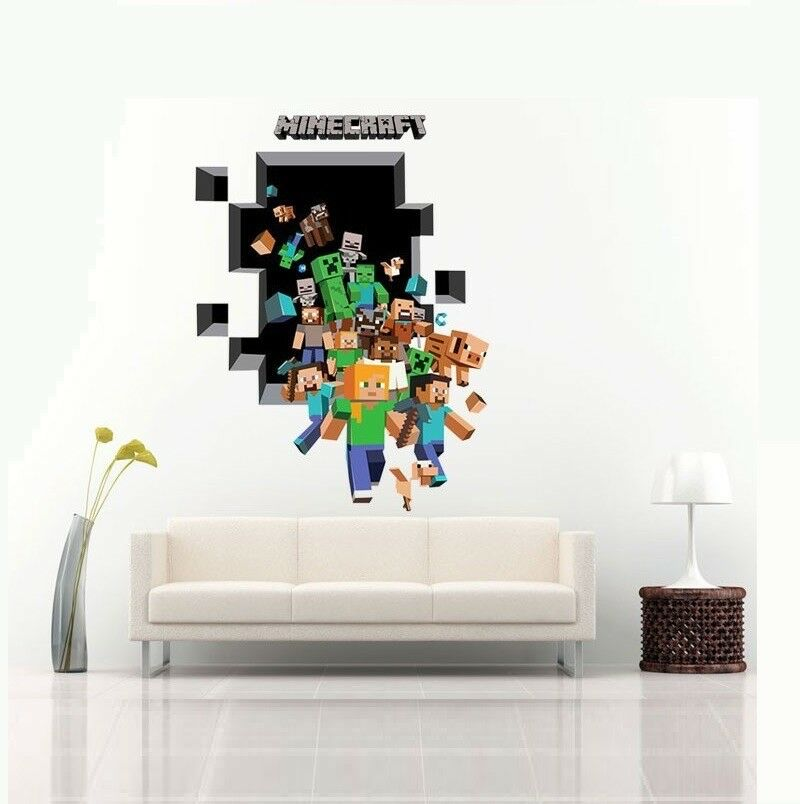 Minecraft Wall Stickers Joblot 36 items