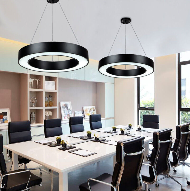 Ceiling Lamp Office: Modern Office LED Pendant Lights Circle Round Suspension