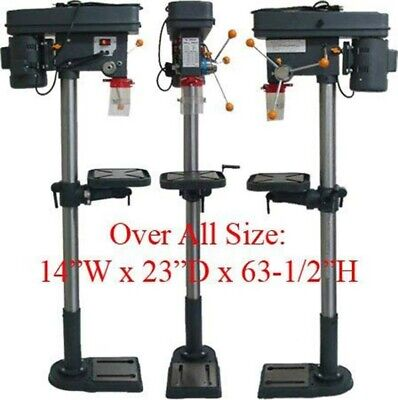 16 Speed Drill Press Floor ±45 Angle 360 Degree Table