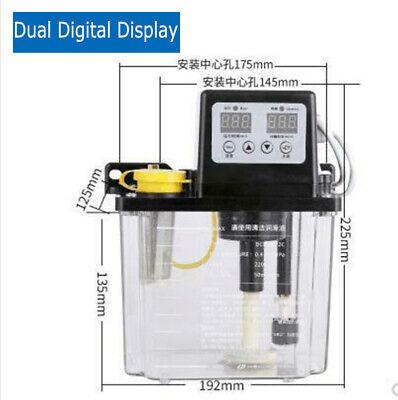 Electric Automatic Lubrication Pump Dual Digital Display Cnc Oiler 110v 2.0 L