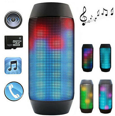 Portable PULSE LED Light Stereo Wireless Bluetooth Speaker With FM For iphone