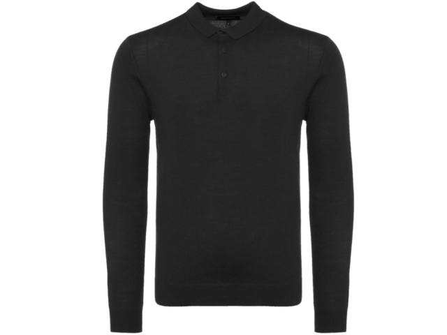 Matinique KLINT Wool Long Sleeve Polo/Black - Small SRP £89.95