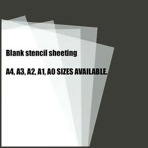 10 X A4 Clear Pvc Plastic Stencil Film Sheets Like Mylar