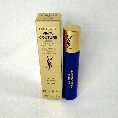 Yves Saint Laurent ~ 5 ~ I'm In Trouble Blue Mascara Vinyl Couture ~ 0.06 oz ~