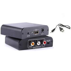 HDMI input Digital to RCA Analog Audio/Video Composite CVBS Output Converter/AV