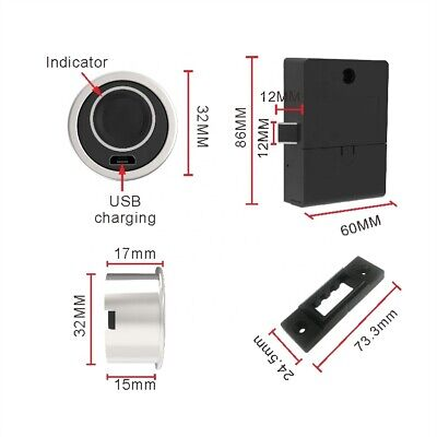Fingerprint - Biometric Cabinet Lock F-q32
