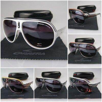 Fashion Aviator Men Women Retro Sunglasses Eyewear Carrera Glasses+Box (Le Specs Eyewear)