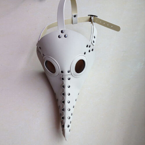 Plague Doctor Retro Leather Steampunk Bird Mask Exclusive Gothic Rock Cos White
