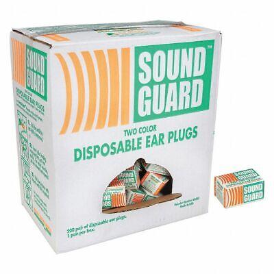 200x Ear Plugs Lot Bulk Soft Orange Foam Sleep Travel Noise Shooting Earplugs