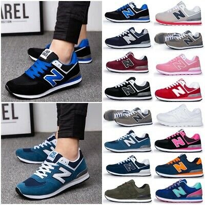 Mens Womens New Balance 574 Classic Running Shoes Textile Retro Casual Trainers